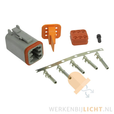 Deutsch-DT 6-pins female connector