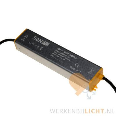 Waterdichte 12 volt DC 60W led voeding