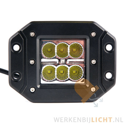 18 watt inbouw breedstraler achteruitrijlamp