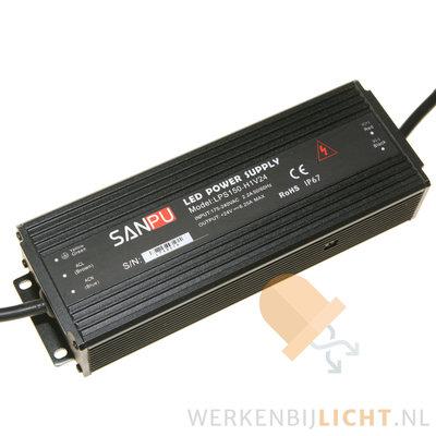 Waterdichte 24 volt DC 150W led voeding