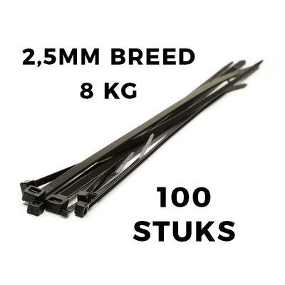 Kabelbinders 200x2,5  zak 100 stuks
