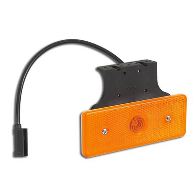 LED Zijmarkering Oranje 10-30V met beugel en kabel