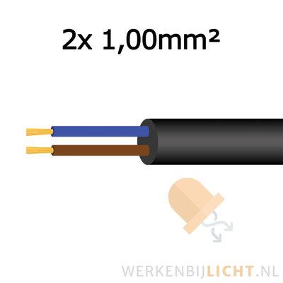 Soepele aansluitkabel 2x 1,00mm²