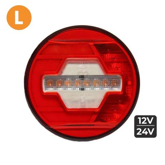 LED Achterlicht Links Ø140mm + Dynamische richtingaanwijzer