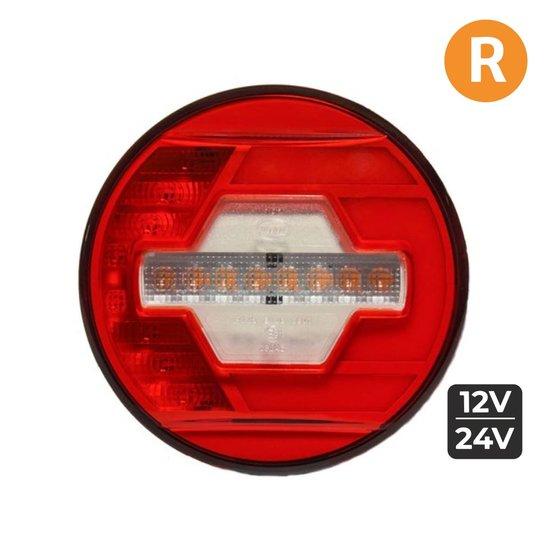 LED Achterlicht Rechts Ø140mm + Dynamische richtingaanwijzer