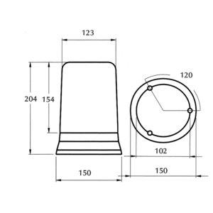 Losse Lens Voor Dasteri 410 serie zwaailamp