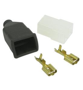 AMP-Faston 2-pins stekker