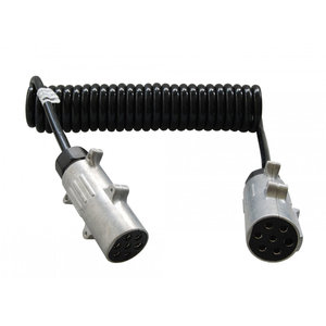 24 Volt Spiraal Verlengkabel 7-polig 3,50 meter ISO 1185 N