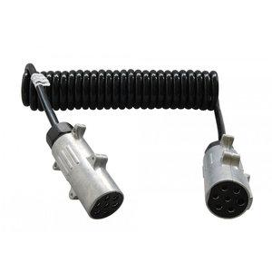 24 Volt Spiraal Verlengkabel 7-polig 3 meter ISO 1185 N
