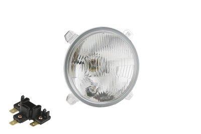 koplamp Ø139 123x88, R2 lamp, 24V