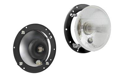 koplamp Ø150 143x89, R2 lamp, 12V