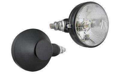 koplamp, H4, Ø161x112 metaal links
