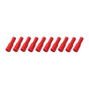Rondstekerhuls Geïsoleerd Rood (0.5-1.5mm)