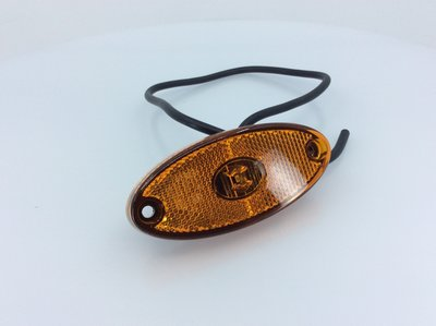 Lambda LED Zijmarkering Oranje Ovaal