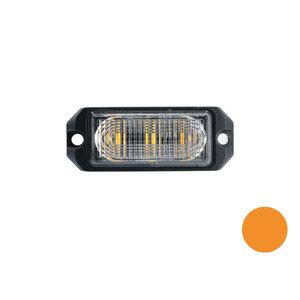 LED flitser 3-voudig ultra flat Oranje