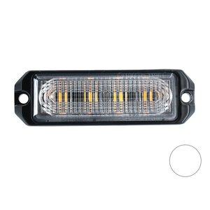 LED flitser 4-voudig ultra flat Wit