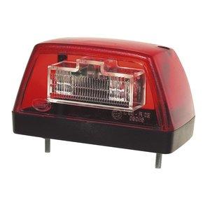 LED Kentekenverlichting Rood 12V