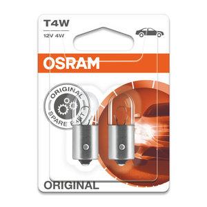 Osram T4W 12V Gloeilamp BA9s Original Line 2 Stuks