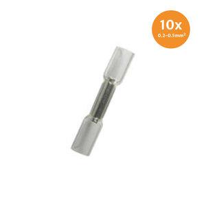 Kabelschoenen Met Krimpkous Waterdicht Wit (0.2-0.5mm) 10 Stuks