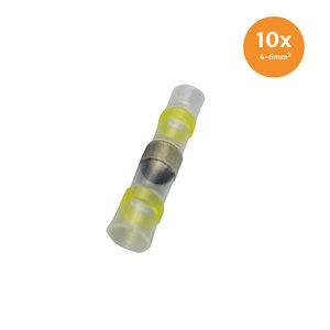 Soldeerhuls Waterdicht Geel (4-6mm) 10 Stuks