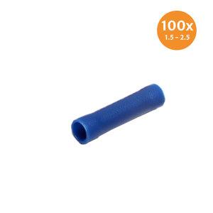 Doorverbinder Geïsoleerd Blauw (1.5-2.5mm) 100 Stuks
