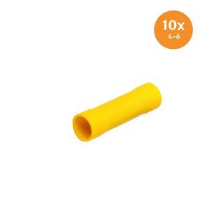Doorverbinder Geïsoleerd Geel (4-6mm) 10 Stuks