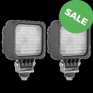 2X LED werklamp breedstraler 1500LM + Deutsch-DT