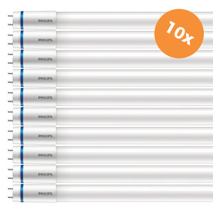 10x Philips Master LED Tube 120cm UO 15,5W 6500K Koudwit T8