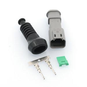 Male Deutsch-DT 2-pins connector + Rubber