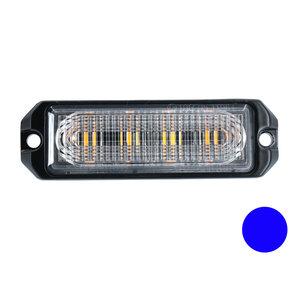 LED flitser 4-voudig ultra flat Blauw