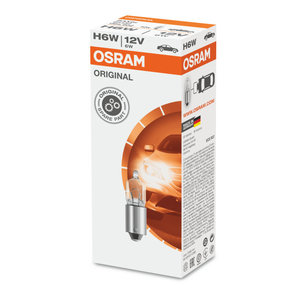Osram H6W Halogeenlamp BAX9s 12V Original Line 10 Stuks
