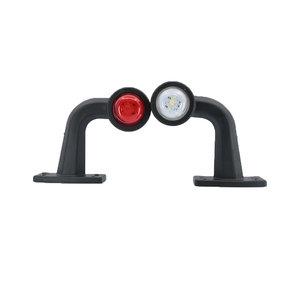 Set LED Breedtelampen haaks kort 10-30V Wit + Rood (Set)