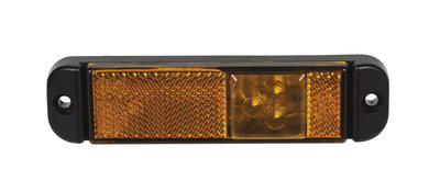 LED Zijmarkering Oranje met reflector