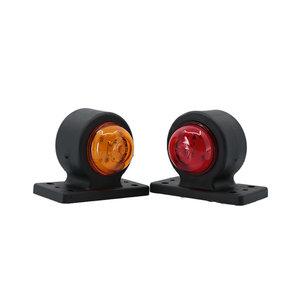 Set LED Breedtelampen kort 10-30V Amber + Rood (set)