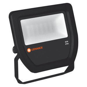 20W LED Bouwlamp 230V Zwart