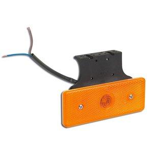 LED Zijmarkering Oranje 24V met beugel