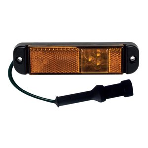 LED Zijmarkering Oranje met reflector en connector