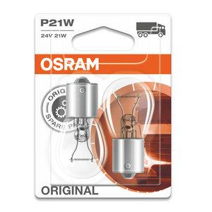 Osram Gloeilamp 24V Original Line P21W, BA15s 2 Stuks